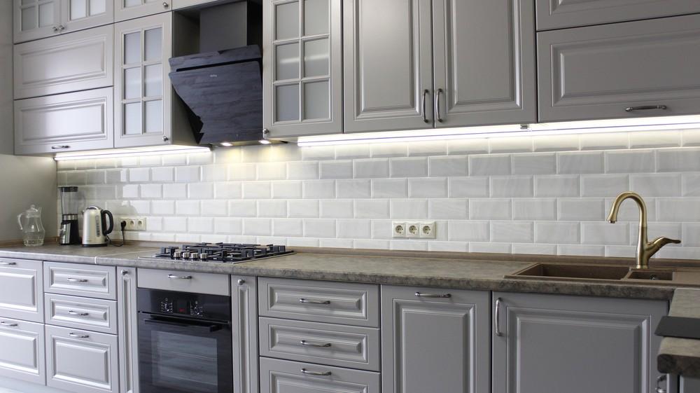 Белый кухонный гарнитур-Кухня МДФ в ПВХ «Модель 183»-фото2
