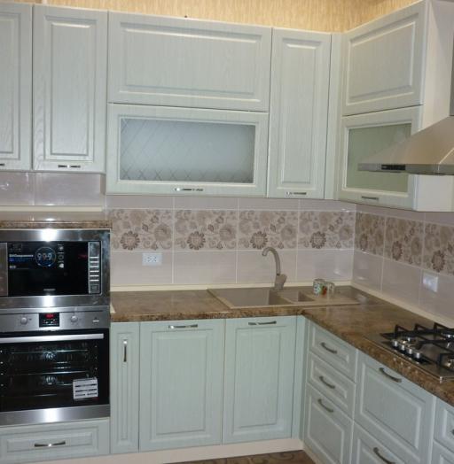 Белый кухонный гарнитур-Кухня МДФ в ПВХ «Модель 306»-фото4