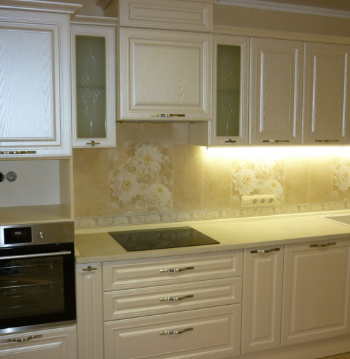 Встроенная кухня-Кухня МДФ в ПВХ «Модель 229»-фото4