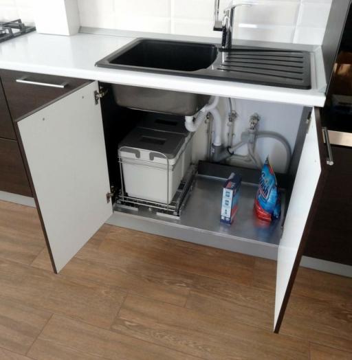 Встроенная кухня-Кухня из пластика «Модель 188»-фото9