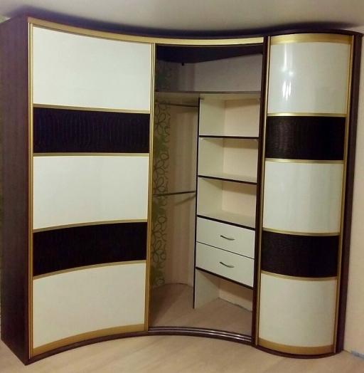 -Радиусный шкаф-купе «Модель 236»-фото1