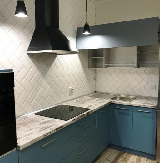 -Кухня из пластика «Модель 373»-фото17