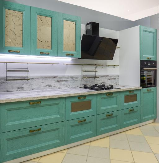 Белый кухонный гарнитур-Кухня из массива «Модель 46»-фото9