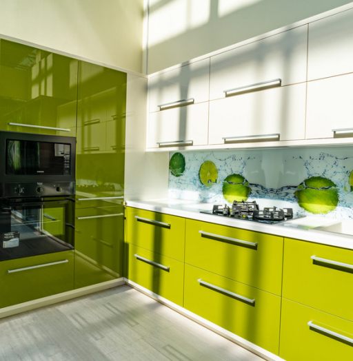 Белый кухонный гарнитур-Кухня МДФ в ПВХ «Модель 53»-фото9