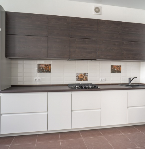 Белый кухонный гарнитур-Кухня МДФ в эмали «Модель 6»-фото10