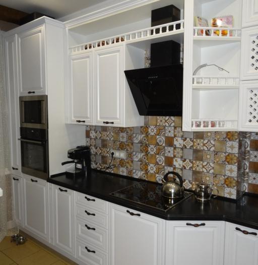 Встроенная кухня-Кухня МДФ в эмали «Модель 20»-фото9