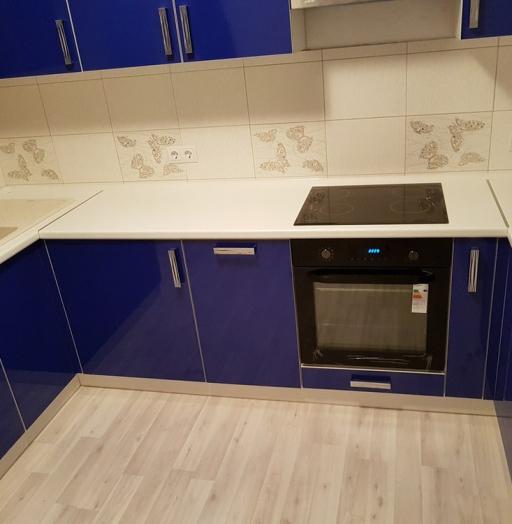 Акриловые кухни-Кухня из пластика «Модель 130»-фото5