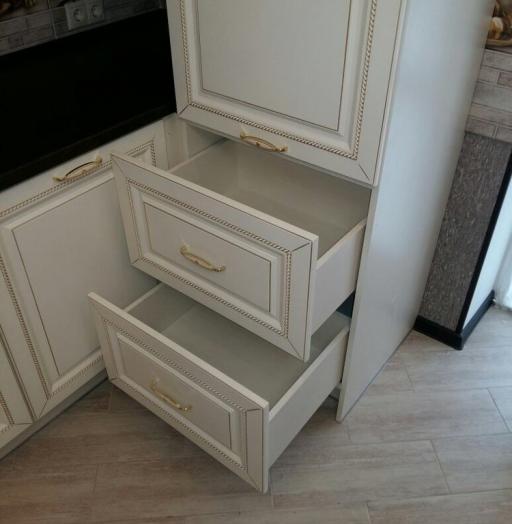Белый кухонный гарнитур-Кухня МДФ в ПВХ «Модель 146»-фото7