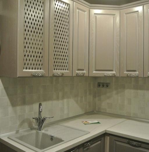 Встроенная кухня-Кухня МДФ в ПВХ «Модель 156»-фото8