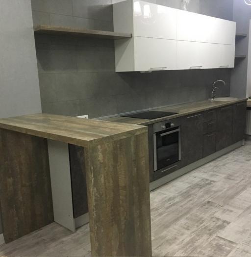 Белый кухонный гарнитур-Кухня МДФ в эмали «Модель 159»-фото4