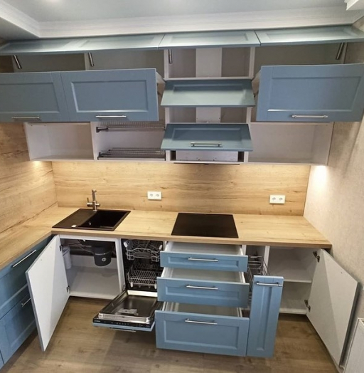 -Кухня МДФ в эмали «Модель 586»-фото17